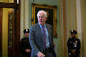 United States Senator John Cornyn (Republican of Texas) leaves the Senate Chamber following a dinner break in the impeachment trial of United States President Donald J. Trump at the United States Capitol in Washington D.C., U.S., on Monday, January 27, 2020.<br />  <br /> Credit: Stefani Reynolds / CNP