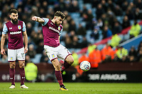 Aston Villa's Robert Snodgrass shoots at goal as team mate Mile Jedinak looks on<br /> <br /> Photographer Andrew Kearns/CameraSport<br /> <br /> The EFL Sky Bet Championship -  Aston Villa v Queens Park Rangers - Tuesday 13th March 2018 - Villa Park - Birmingham<br /> <br /> World Copyright &copy; 2018 CameraSport. All rights reserved. 43 Linden Ave. Countesthorpe. Leicester. England. LE8 5PG - Tel: +44 (0) 116 277 4147 - admin@camerasport.com - www.camerasport.com