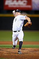 Empire State Yankees pitcher Jon Meloan #38 during game four of a best of five playoff series against the Pawtucket Red Sox at Frontier Field on September 8, 2012 in Rochester, New York.  Pawtucket defeated Empire State 7-1 to advance to the International League Finals.  (Mike Janes/Four Seam Images)