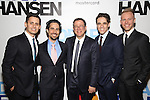 Benj Pasek, Alex Lacamoire, Michael Greif, Steven Levenson and Justin Paul attend the Broadway Opening Night Performance of 'Dear Evan Hansen'  at The Music Box Theatre on December 4, 2016 in New York City.