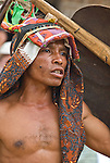 A young man from Rampasasa village readies himself for a traditional Manggarai stick fight.