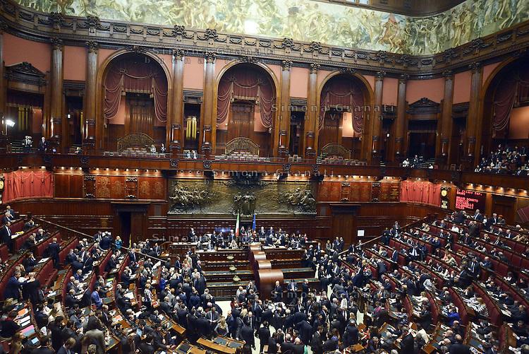 roma, 18 Aprile 2013.Camera dei Deputati.Votazione del Presidente della Repubblica a camere riunite.Panoramica