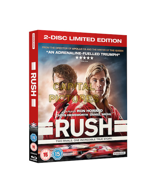 SAINSBURYS EXCLUSIVE BLU RAY COVER ART<br /> in Rush (2013) <br /> *Filmstill - Editorial Use Only*<br /> CAP/NFS<br /> Image supplied by Capital Pictures