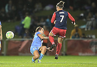 Boyds, MD - Friday Sept. 30, 2016: Danielle Colaprico, Christine Nairn during a National Women's Soccer League (NWSL) semi-finals match between the Washington Spirit and the Chicago Red Stars at Maureen Hendricks Field, Maryland SoccerPlex. The Washington Spirit won 2-1 in overtime.