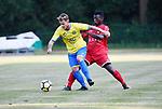 2018-06-27 / Voetbal / Seizoen 2018-2019 / KFC Brasschaat - R. Antwerp FC / Matthew Haesendonckx met tester Janvier van Antwerp<br /> <br /> ,Foto: Mpics