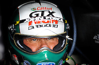 Jan 23, 2009; Chandler, AZ, USA; NHRA funny car driver John Force during testing at the National Time Trials at Firebird International Raceway. Mandatory Credit: Mark J. Rebilas-