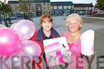 IN THE PINK: Margaret and Francis Browne from Caragh Lake taking part in the Pink Ribbon Day in Killorglin on Friday last.   Copyright Kerry's Eye 2008