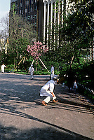 Tokyo: Cooks playing catch--Ueno Park. Photo '82.