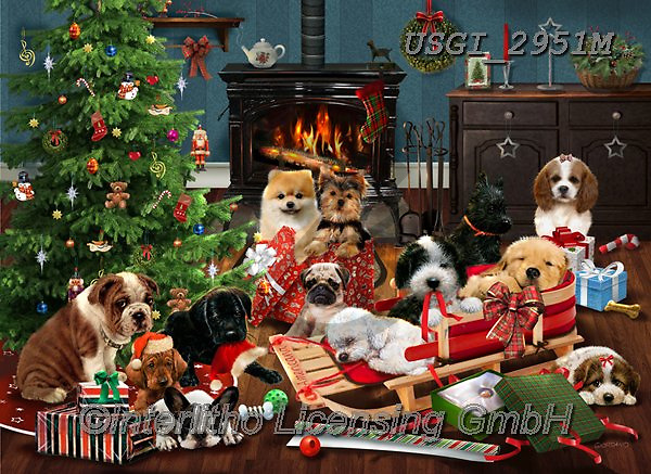 GIORDANO, CHRISTMAS ANIMALS, WEIHNACHTEN TIERE, NAVIDAD ANIMALES, paintings+++++,USGI2951M,#xa#