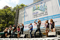 "NEW YORK - AUGUST 16: Cast of ""Rock of Ages"" on stage during 106.7 Lite FM Presents Broadway in Bryant Park on August 16, 2012 in New York City. (Photo by MPI81/MediaPunchInc)"