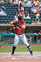 Jose Osuna (13) of the Indianapolis Indians at bat against the Columbus Clippers at Huntington Park on June 17, 2018 in Columbus, Ohio. The Indians defeated the Clippers 6-3.  (Brian Westerholt/Four Seam Images)