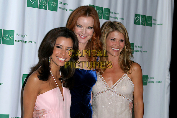 EVA LONGORIA, MARCIA CROSS & LORI LAUGHLIN. 32nd Annual Crystal Ball held at The Beverly Hilton Hotel, Beverly Hills,  CA..October 19th, 2005.Photo: Jacqui Wong/AdMedia/Capital Pictures.Ref: JW/ADM.half length.www.capitalpictures.com.sales@capitalpictures.com.© Capital Pictures.