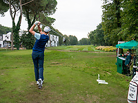 Ross Fisher (ENG) in action on the 10th hole during the first round of the 76 Open D'Italia, Olgiata Golf Club, Rome, Rome, Italy. 10/10/19.<br /> Picture Stefano Di Maria / Golffile.ie<br /> <br /> All photo usage must carry mandatory copyright credit (© Golffile | Stefano Di Maria)