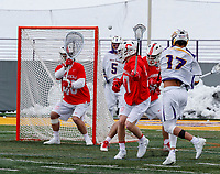 University at Albany Men's Lacrosse defeats Cornell 11-9 on Mar 4 at Casey Stadium.  Jakob Patterson (#17) shoots.