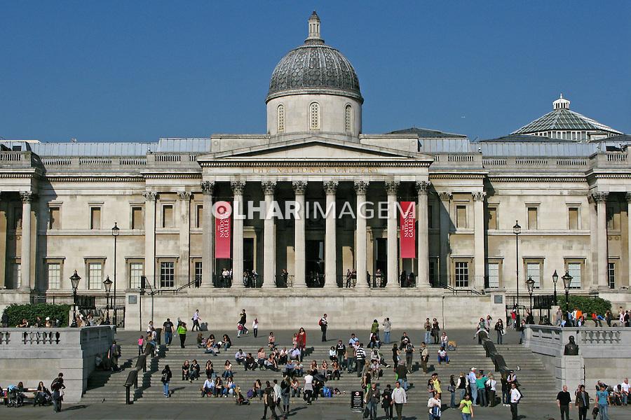 Edifício da National Gallery, Trafalgar Square. Londres. Inglaterra. 2008. Foto de Juca Martins.