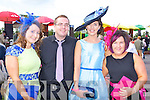 Janelle Moriarty Beaufort, Denis Keane Gneeveguilla, Dorinda Burke Killarney and Michelle Cullen Beaufort at the Killarney Races on Saturday
