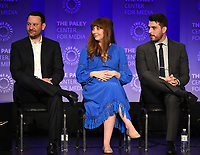 """HOLLYWOOD, CA - MARCH 24: Creator/Executive Producer Dan Fogelman, Executive Producers Elizabeth Berger and Isaac Aptaker, attend PaleyFest 2019 for 20th Century Fox Television's """"This is Us"""" at the Dolby Theatre on March 24, 2019 in Hollywood, California. (Photo by Frank Micelotta/20th Century Fox Television/PictureGroup)"""