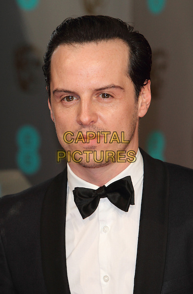 LONDON, ENGLAND - FEBRUARY 08: Andrew Scott attends the EE British Academy Film Awards at The Royal Opera House on February 8, 2015 in London, England<br /> CAP/ROS<br /> &copy;Steve Ross/Capital Pictures