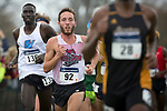 EVANSVILLE, IN - NOVEMBER 18: Medina Kyle (92) of Chico State works thru the crowd at the Division II Men's Cross Country Championship held at the Angel Mounds on November 18, 2017 in Evansville, Indiana. Medina placed 4th with a time of 31:04.3. (Photo by Tim Broekema/NCAA Photos/NCAA Photos via Getty Images)