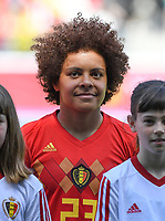 20190601 - LEUVEN , BELGIUM : Belgian Kassandra Missipo pictured during the female soccer game between the Belgian Red Flames and Thailand , a friendly game as a preparation for Thailand for the World Championship in France 2019, Saturday 1 th June 2019 at OHL Stadion Den Dreef in Leuven , Belgium. PHOTO SPORTPIX.BE | DAVID CATRY