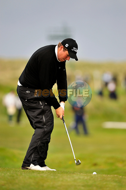 Shane Lowry plays his 2nd shot on the 11th hole during Round 3 of the 3 Irish Open on 16th May 2009 (Photo by Eoin Clarke/GOLFFILE)