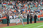Masahiro Tanaka (Yankees),<br /> APRIL 1, 2014 - MLB :<br /> Masahiro Tanaka of the New York Yankees jogs onto the field during introductions before the baseball game against the Houston Astros at Minute Maid Park in Houston, Texas, United States. (Photo by AFLO)