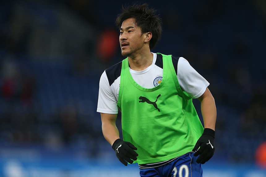 Leicester City's Shinji Okazaki during the pre-match warm-up <br /> <br /> Photographer Stephen White/CameraSport<br /> <br /> The Premier League - Leicester City v Sunderland  - Tuesday 4th April 2017 - King Power Stadium - Leicester<br /> <br /> World Copyright &copy; 2017 CameraSport. All rights reserved. 43 Linden Ave. Countesthorpe. Leicester. England. LE8 5PG - Tel: +44 (0) 116 277 4147 - admin@camerasport.com - www.camerasport.com