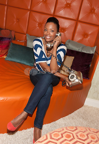 "Aisha Tyler pictured in The Real World Suite at Hard Rock Hotel & Casino in Las Vegas, NV on August 3, 2011. Aisha visited Hard Rock Hotel in Las Vegas and is pictured in the Real World Suite that was featured on MTV""s Real World.  © Erik Kabik / MediaPunch.***HOUSE COVERAGE***"