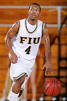 6 February 2010:  FIU's Phil Gary (4) handles the ball in the second half as the North Texas Mean Green defeated the FIU Golden Panthers, 68-66, at the U.S. Century Bank Arena in Miami, Florida.