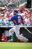 New York Mets infielder Lucas Duda (21) during a Spring Training game against the St. Louis Cardinals on April 2, 2015 at Roger Dean Stadium in Jupiter, Florida.  The game ended in a 0-0 tie.  (Mike Janes/Four Seam Images)