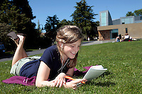05132009- Seattle University, spring feature photos, students laying in the grass