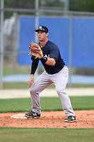 New York Yankees Drew Bridges (47) during practice before a minor league spring training game against the Toronto Blue Jays on March 24, 2015 at the Englebert Complex in Dunedin, Florida.  (Mike Janes/Four Seam Images)