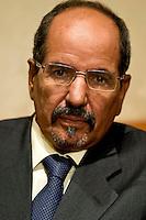 Roma 13 Novembre 2013<br /> Conferenza stampa al Senato del presidente della Repubblica araba Sahrawi Mohamed Abdelaziz in occasione dell'incontro con  l'Intergruppo parlamentare di solidariet&agrave; con il Popolo Sahrawi per fare il punto sulla situazione nel Sahara occidentale . Il  presidente della Repubblica araba Sahrawi Mohamed Abdelaziz