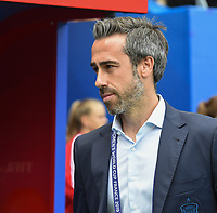 20190612 - VALENCIENNES , FRANCE : Spanish coachJorge Vilda pictured during the female soccer game between Germany  and Spain  , the second game for both teams in group B during the FIFA Women's  World Championship in France 2019, Wednesday 12 th June 2019 at the Stade du Hainaut Stadium in Valenciennes , France .  PHOTO SPORTPIX.BE | DIRK VUYLSTEKE