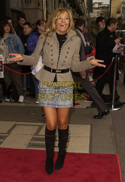"DEBBIE FROM QUIZMANIA?.Outside arrivals for ""Movin' Out"" Opening Night, .Apollo Victoria Theatre, London, England, .April 10th 2006..full length funny.Ref: CAN.www.capitalpictures.com.sales@capitalpictures.com.©Can Nguyen/Capital Pictures"