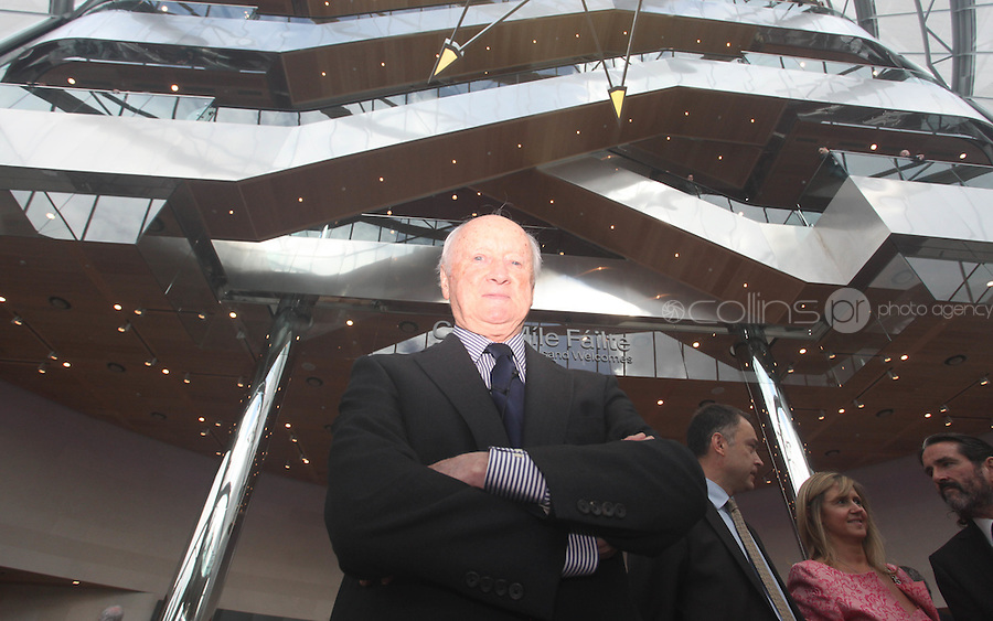 07/09/2010.Architect Kevin Roche at the opening of the Convention Centre in Spencers Dock,  Dublin..Photo: Gareth Chaney Collins