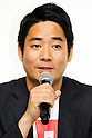 """Rei Matsunuma , Global Marketing Projector of UNIQLO Co., Ltd. answers questions form the press during a special Uniqlo media event to promote the """"UTme!"""" smart phone application on April 28, 2015. The application allows customers to upload their own designs to sell through """"UTme! Market"""". Customers also can select new effects, characters and designs from Coca-Cola, Mottchy the Kakkoii-inu and fashion magazine Non-no. (Photo by Rodrigo Reyes Marin/AFLO)"""