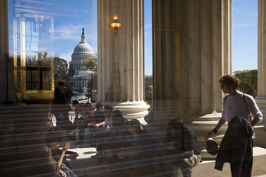 Students visit the Supreme Court of the United States in Washington, DC...Photo by Brooks Kraft/Corbis.....................