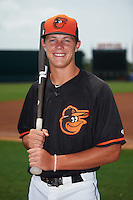 GCL Orioles shortstop Ryan Mountcastle (43) poses for a photo before the second game of a doubleheader against the GCL Rays on August 1, 2015 at the Ed Smith Stadium in Sarasota, Florida.  GCL Orioles defeated the GCL Rays 11-4.  (Mike Janes/Four Seam Images)
