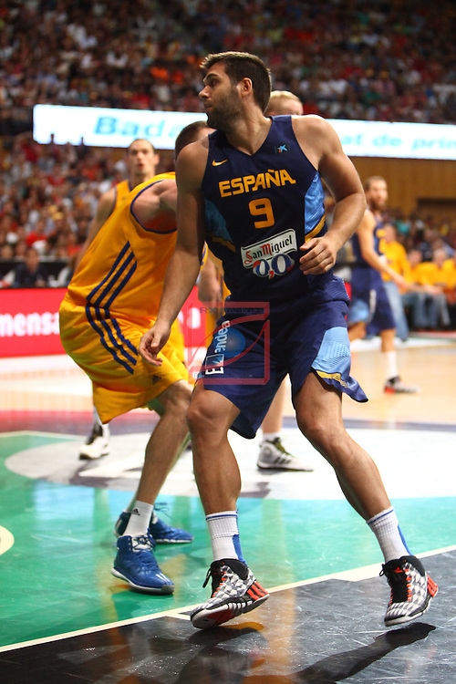 Badalona International Basketball Tournament.<br /> Spain vs Ukraine: 71-63.<br /> Felipe Reyes.