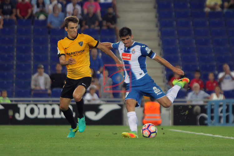 League Santander 2016/2017. Game: 2.<br /> RCD Espanyol vs Malaga CF: 2-2.<br /> 1-0: Gerard Moreno.