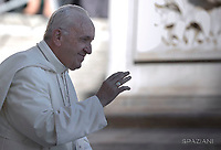 Pope Francis during of a weekly general audience at St Peter's square in Vatican.September 20, 2017