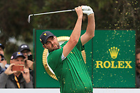 Marc Leishman (International) on the 3rd tee during the Second Round - Foursomes of the Presidents Cup 2019, Royal Melbourne Golf Club, Melbourne, Victoria, Australia. 13/12/2019.<br /> Picture Thos Caffrey / Golffile.ie<br /> <br /> All photo usage must carry mandatory copyright credit (© Golffile | Thos Caffrey)