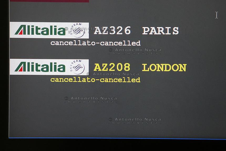 Roma, 23 Gennaio 2006. Sciopero lavoratori Alitalia.