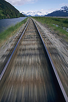 Railroad tracks, Turnagain Arm, Alaska