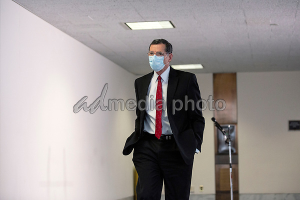 United States Senator John Barrasso (Republican of Wyoming) departs the Senate GOP Policy Luncheons at the Hart Senate Office Building  in Washington D.C., U.S., on Wednesday, May 20, 2020.  Credit: Stefani Reynolds / CNP/AdMedia
