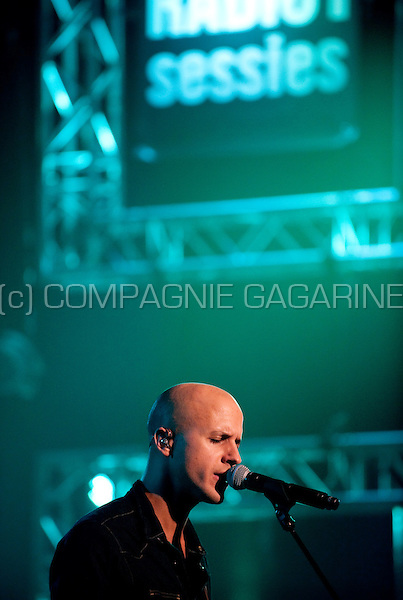 Concert of the Belgian band Milow in the Amerikaans Theater, Brussels (Belgium, 21/11/2011)