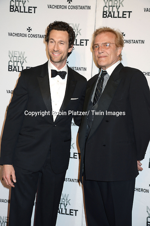 Aaron Lazar and Peter Martins attends the New York City Ballet Spring 2014 Gala on May 8, 2014 at David Koch Theatre in Lincoln Center in New York City, NY, USA.