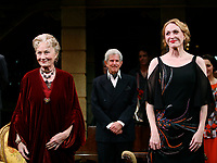 ***Jan Maxwell has passed away at the age of 61 after a long battle with cancer***<br /> ***FILE PHOTO*** Rosemary Harris, Tony Roberts &amp; Jan Maxwell during the Manhattan Theatre Club's Productions Opening Night Curtain Call  for &quot;The Royal Family&quot; at the Samuel J. Friedman Theatre in New York City. October 8, 2009 <br /> CAP/MPI/WAL<br /> &copy;WAL/MPI/Capital Pictures