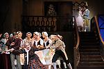 LA FILLE MAL GARDEE..Choregraphie : ASHTON Frederick.Compositeur : HEROLD Louis joseph Ferdinand.Compagnie : Ballet de l Opera National de Paris.Orchestre : Orchestre de l Opera National de Paris.Decor : LANCASTER Osbert.Lumiere : THOMSON George.Costumes : LANCASTER Osbert.Avec :.OULD BRAHAM Myriam.HEYMANN Mathias.PHAVORIN Stephane.ROQUES Fabien.DREYFUS Arnaud.Lieu : Opera Garnier.Ville : Paris.Le : 26 06 2009.© Laurent PAILLIER / www.photosdedanse.com.All rights reserved
